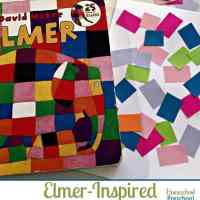 Elmer-Inspired Mosaic Art and FREE Printable