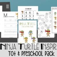 Ninja Turtle Printable for Tots and Preschoolers