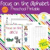 Focus on the Alphabet Printables for Preschool