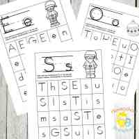 Christmas Alphabet Hunt Pages for Preschoolers
