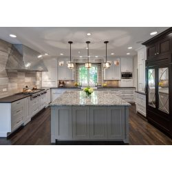 Voguish Granite Kitchen Island Granite Surface Kitchen Counter Er Wood Stain Ing Pendant Lamps Kitchen Island Different Color Than Cabinets Kitchen Island Different Color Transitional Kitchen Idea