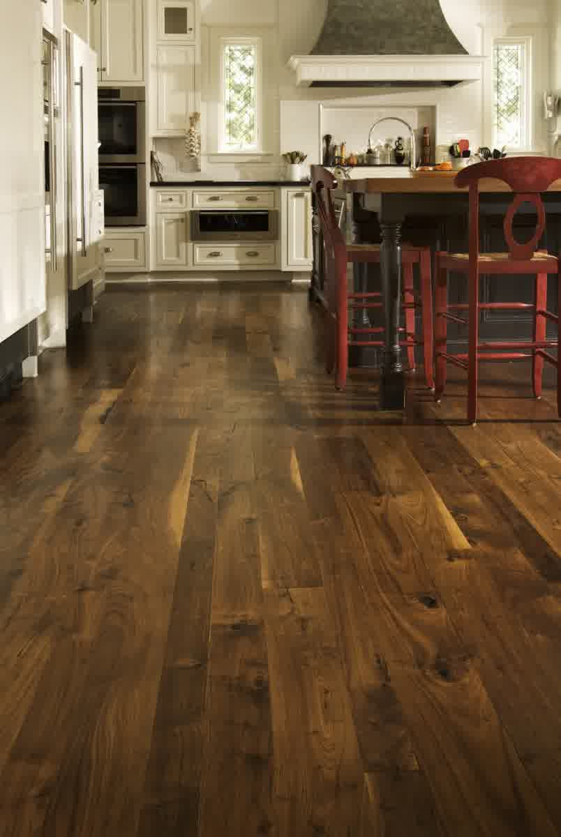 kitchen ideas with wooden flooring options for kitchens combined with white cabinets and kitchen island with comfy seating
