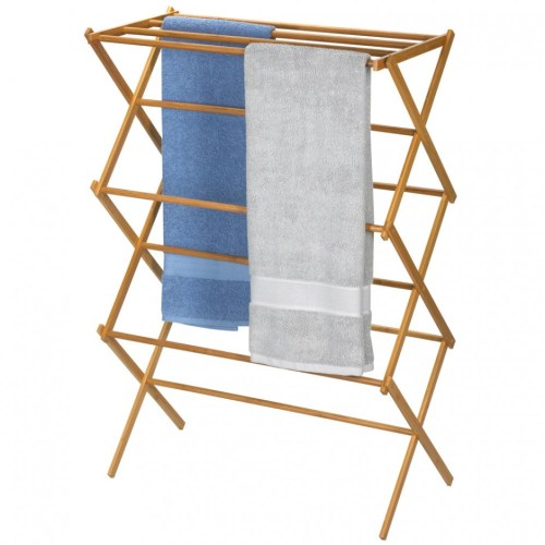 Medium Of Wooden Clothes Drying Rack
