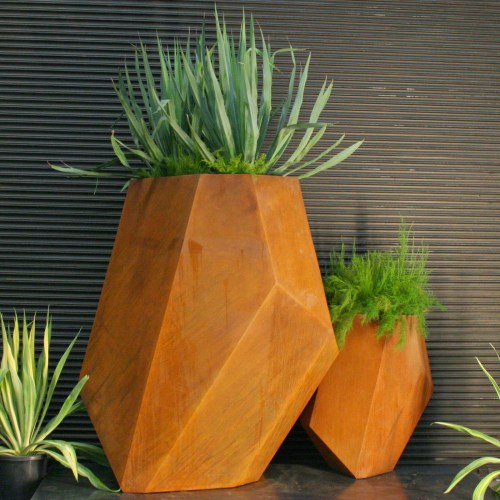 Medium Of Corten Steel Planters