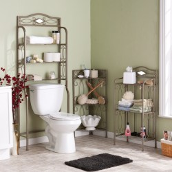 Enticing Metal Towel Shelf Scrolled Idea Toilet Seat Bathroom From Messy To Homesfeed Room Towel Shelves
