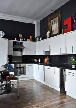 Small Of Black Kitchen Decor