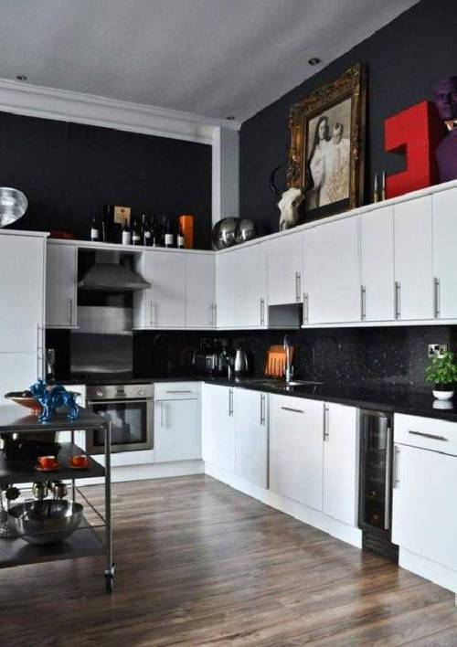 Medium Of Black Kitchen Decor