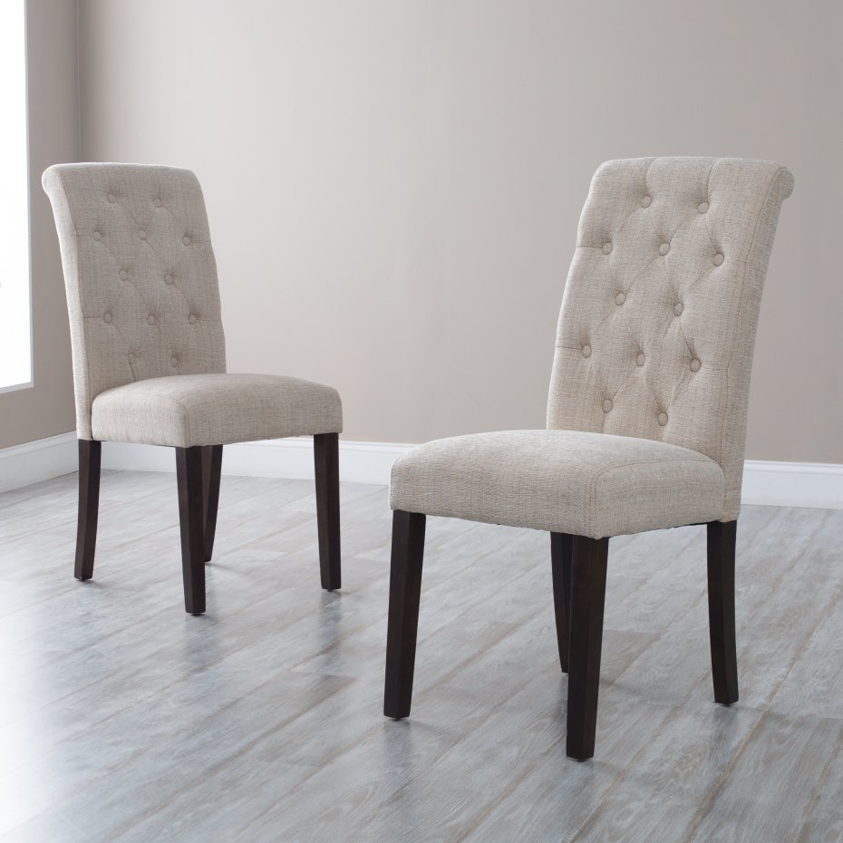 upholstered dining chair white kitchen chairs Modern White Upholstered Dining Chair With Exciting Black Wooden