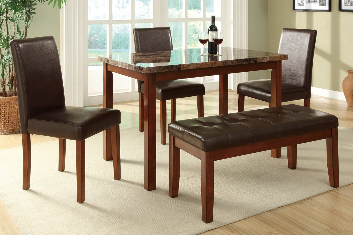 small rectangular dining table rectangular kitchen table Small Rectangular Dining Table With Triple Chairs And Bench
