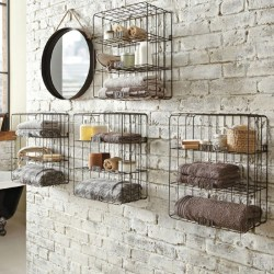 Small Crop Of Rustic Bathroom Wall Shelves