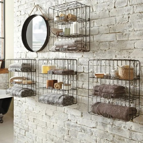 Medium Crop Of Rustic Bathroom Wall Shelves
