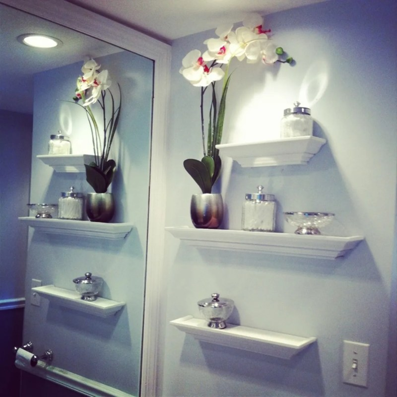 Large Of Bathroom In Wall Shelves