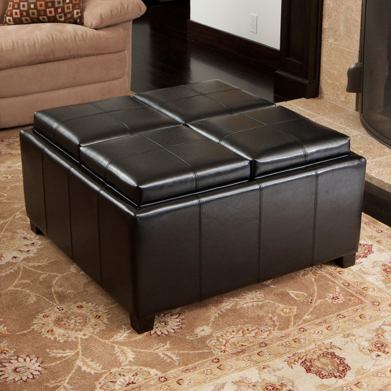 Large Of Square Storage Ottoman