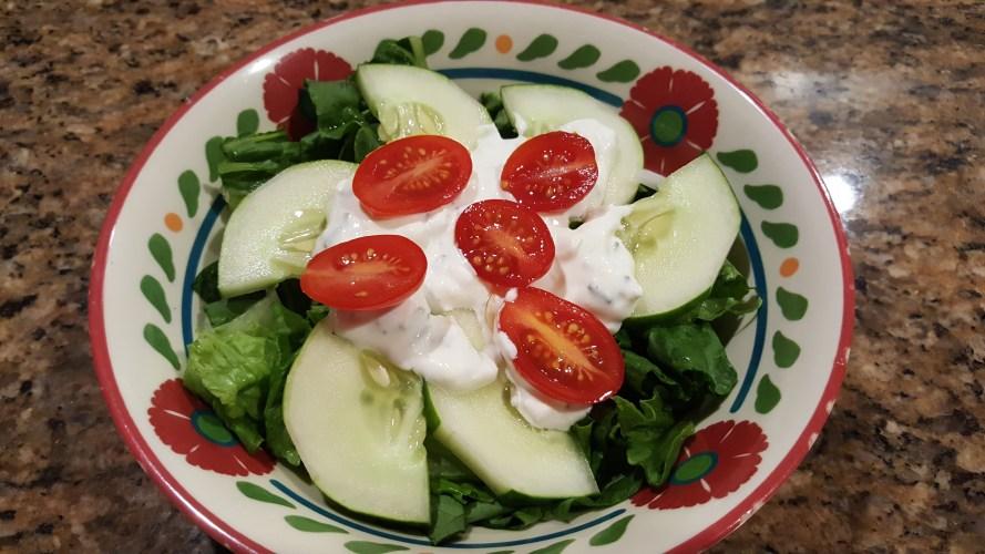 cheddar ranch dressing salad