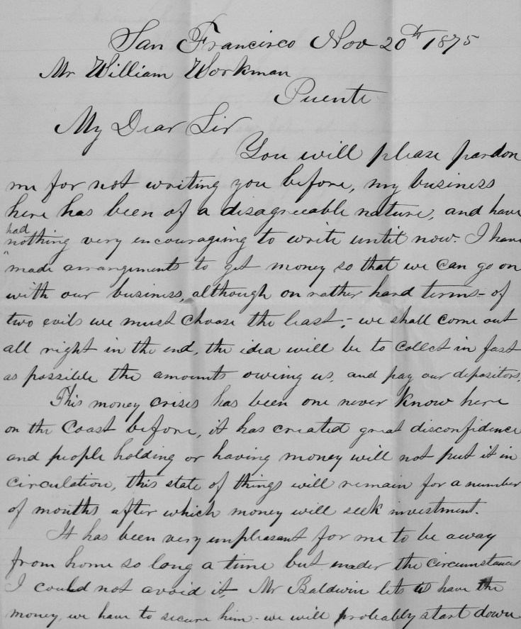 """""""On Rather Hard Terms"""": News of a Loan to the Temple and Workman Bank, November 1875 – The ..."""