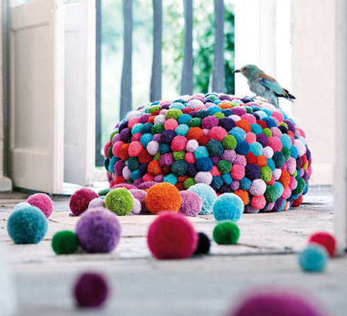 Cute colorful DIY Pom-Pom Crafts and Ideas-homesthetics (3)