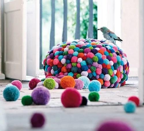 Cute colorful DIY Pom-Pom Crafts and Ideas-homesthetics (3)