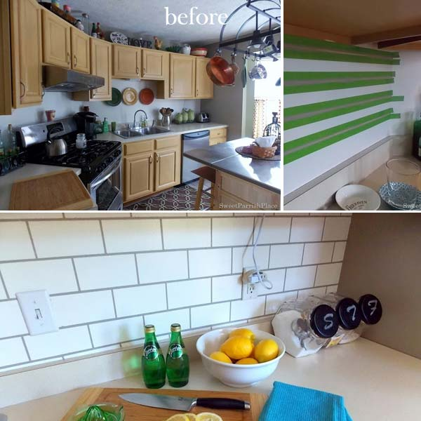 Diy Kitchen Backsplash: 24 Cheap DIY Kitchen Backsplash Ideas And Tutorials You