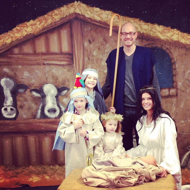 Come let us adore Him! With @therealdavidoak. nativity