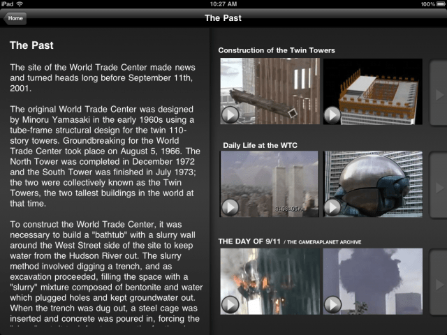 The 911 Memorial: Past, Present and Future--The Past