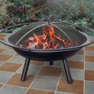 Landmann Halo Steel Fire Pit Black