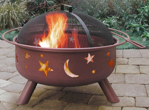 Big Sky KD Stars and Moon Shallow Fire Pit Georgia Clay