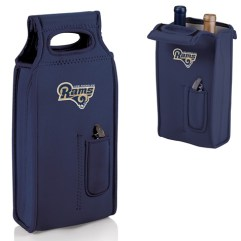 Los Angeles Rams Samba Two Bottle Wine Tote Navy