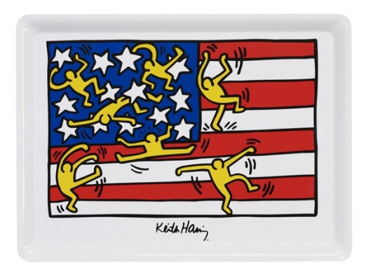Plateau en mŽlamine %22Flag%22 de Keith Haring