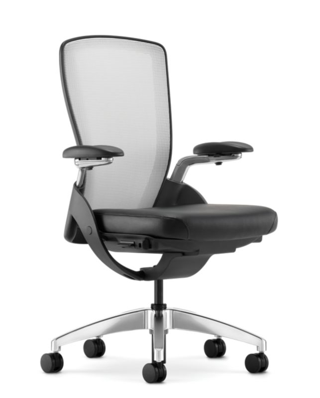 HON Ceres MidBack Task Chair White Back Black Seat Adjustable Arms Mesh  Front Hon Office Chairs Office Furniture68