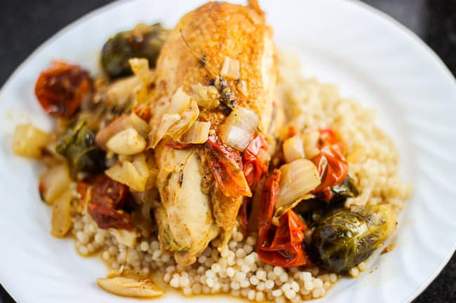 Braised Chicken and Caramalized Vegetables