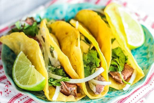 Carne Asada Baja Street Tacos