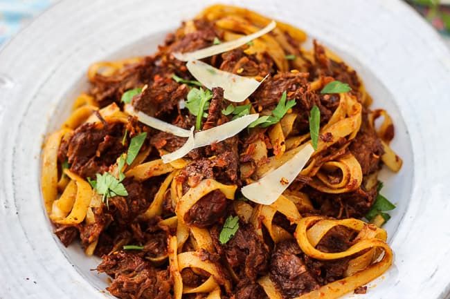 Braised Beef Shank Pasta-5