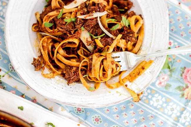 Braised Beef Shank Pasta-8
