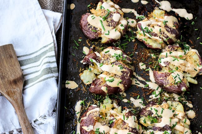 Pork and Mindys Roasted Potatoes with Mustard Cream-6