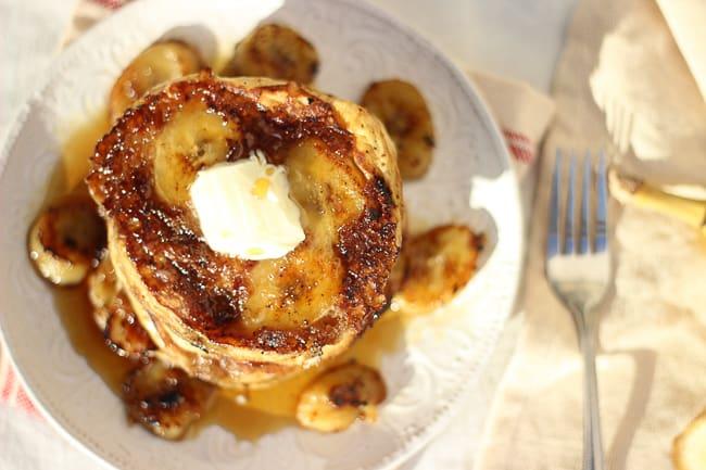 the best brown sugar and banana pancakes-18