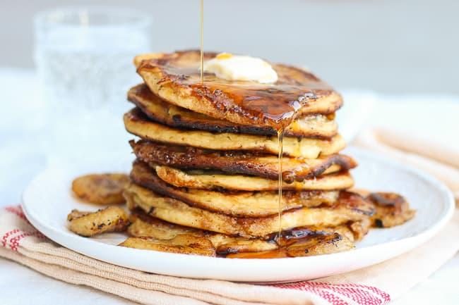 the best brown sugar and banana pancakes-3