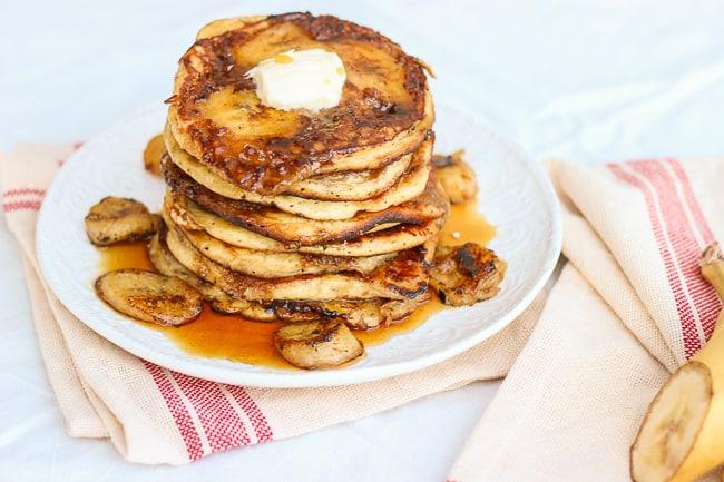 the best brown sugar and banana pancakes-9