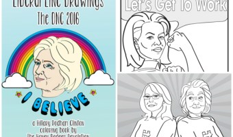 Liberal Line Drawings Coloring Book and a Free DNC Word Find