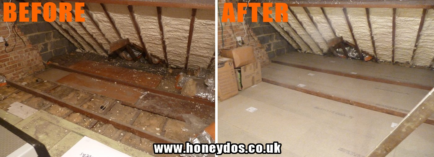 honeydo 39 s handyman loft boarding hampshire loft ladders. Black Bedroom Furniture Sets. Home Design Ideas