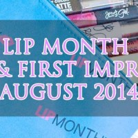 Lip Monthly Unboxing and First Impressions - August 2014