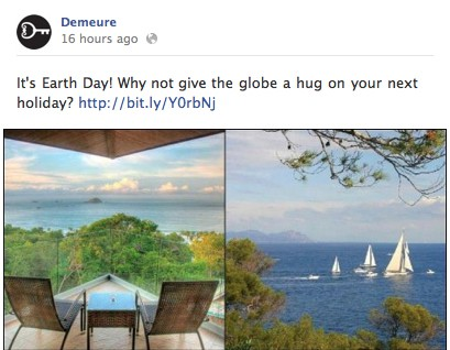 Earth Day Demeure Travel