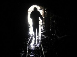 The light at the end of the tunnel, after the Mine Tour of Potosi Bolivia