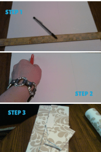 Steps 1-3 of How to make dividers.