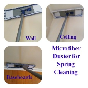 Mr Clean Microfiber Duster used for spring cleaning