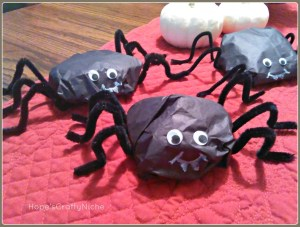 Silly Spider Treat Bags-perfect for those little ghouls and goblins!