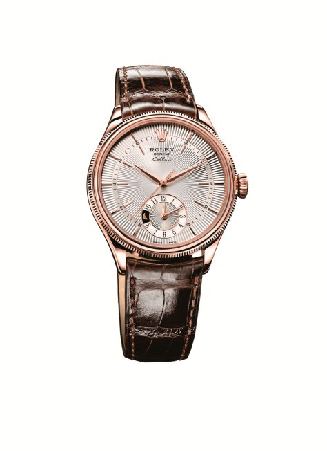 Cellini Dual Time Oro Everose Esfera  Plateada