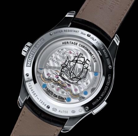 Montblanc Heritage Chronométrie ExoTourbillon Vasco de Gama - Reverso