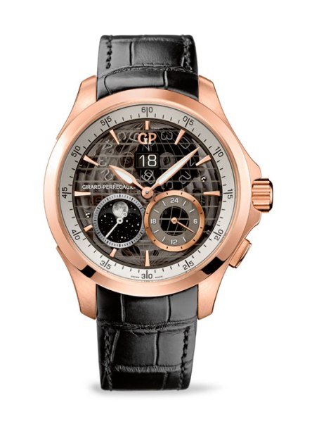 Girard-Perregaux Traveller Large Date Moonphase and GMT oro rosa
