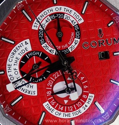 Corum Admirals Cup AC-One 45 Tides detalle de la esfera