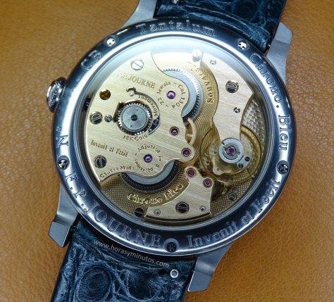 FP Journe Chronomètre Bleu detalle del calibre 1304